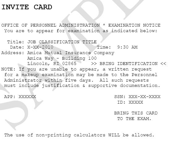 State of rhode island division of human resources civil service sample examination invitation card stopboris Gallery